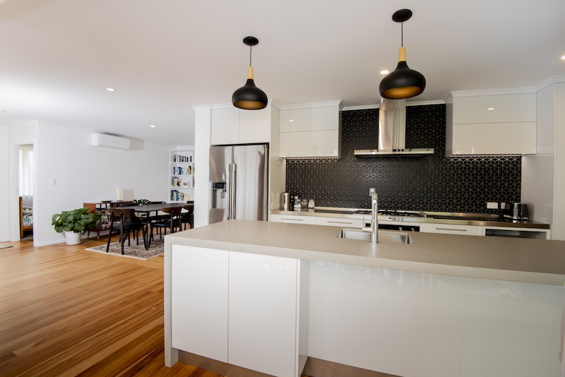Open plan living - Auckland bungalow renovation - Qualitas Builders
