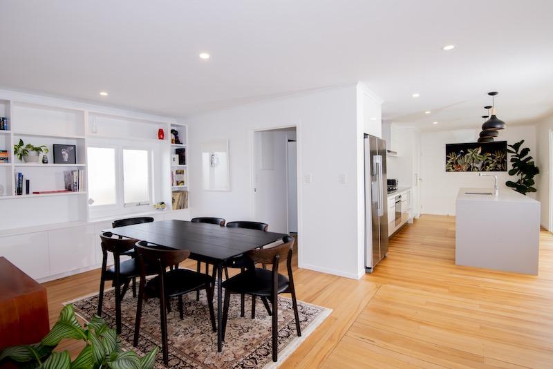 Open plan living - Glen Eden bungalow renovation - Qualitas Builders